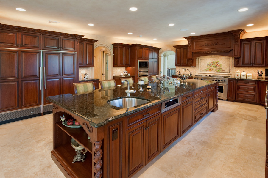 Custom kitchen designs kitchen design i shape india for for Custom kitchen remodel