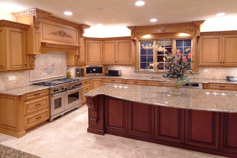 Top 25 photos selection for custom kitchen designs homes for Custom kitchen islands