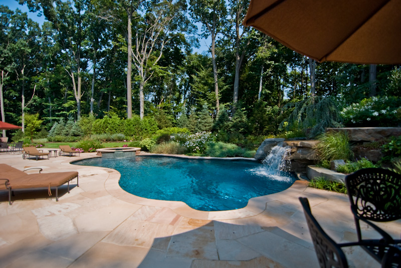 outdoor living swimming pools enjoy - Custom Swimming Pool Designs